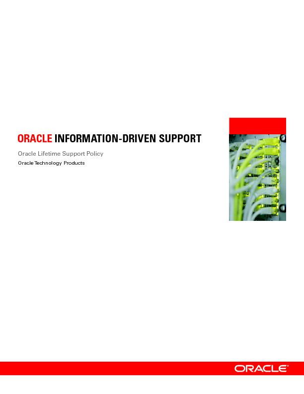 Oracle Lifetime Support Policy PowerPoint PPT Presentation