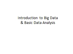 Introduction to Big