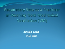 Respiratory Rate as a Predictor of Weaning from Mechanical