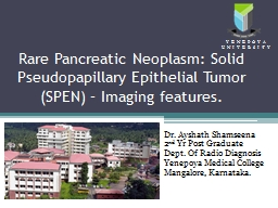 Rare Pancreatic Neoplasm: Solid PowerPoint PPT Presentation
