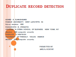 Duplicate record detection