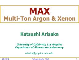 Katsushi Arisaka, UCLA