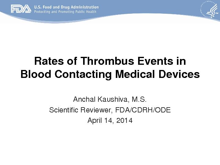 ConclusionsThrombus formation can lead to poor patient outcomes Clinic