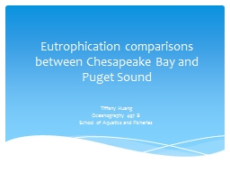 Eutrophication comparisons between Chesapeake Bay and Puget