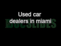 Used car dealers in miami