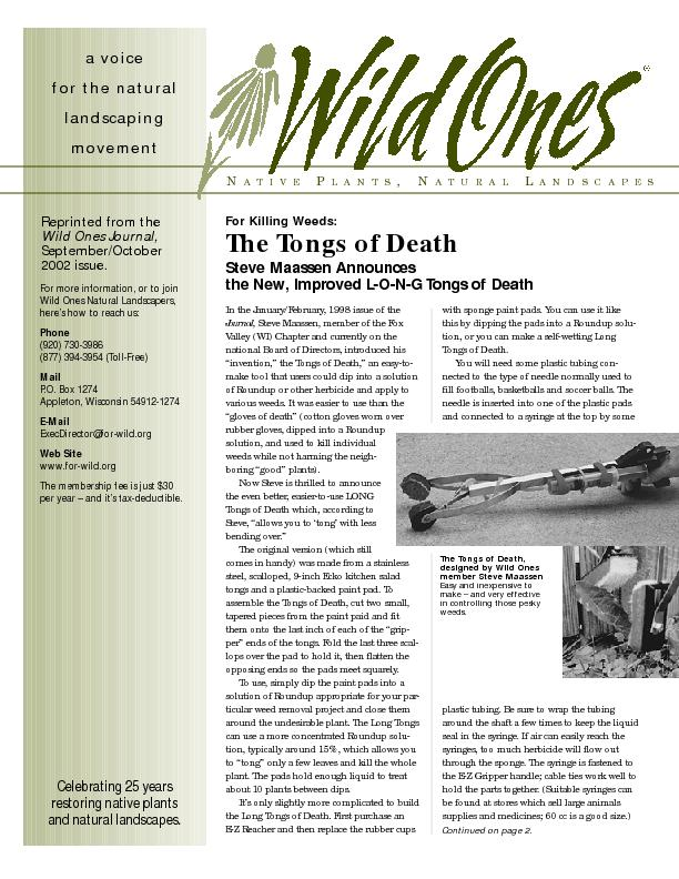 In the January/February, 1998 issue of theSteve Maassen, member of the