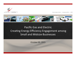 Pacific Gas and Electric PowerPoint PPT Presentation