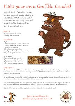 Weve all heard of Gruffalo Crumble but how many of us can actually say weve tasted it Well now you can Follow this simple healthy recipe and maybe Gruffalo Crumble will be your favourite food too Ser