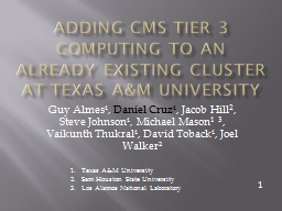 Adding CMS Tier 3 computing to an already existing cluster