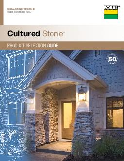 PRODUCT SELECTION GUIDE Cultur ed ton   BORAL STONE P RO DUC TS Build something great Fog Southern Ledgestone  Cultured Stone Product Selection Guide The product colors you see are as accurate as cur