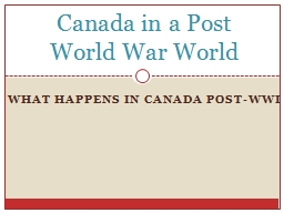 What happens in Canada Post-