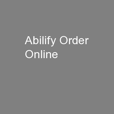 Abilify Order Online