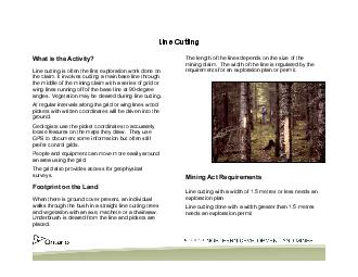Line Cutting What is the Activity Line cutting is often the first exploration work done on the claim PowerPoint PPT Presentation