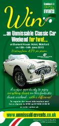 Two days of Classic Car events...featuring a spectacular classic sceni