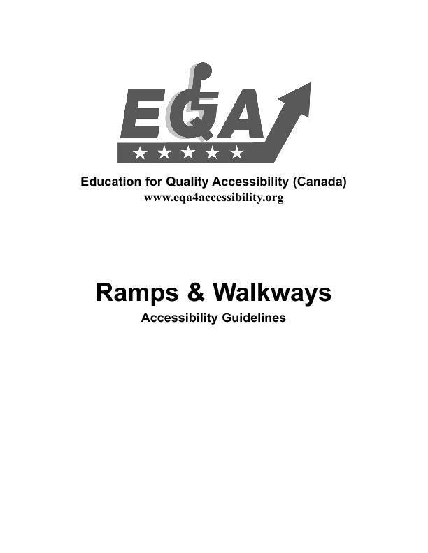 E.Q.A. Guidlines - Ramps and Walkways
