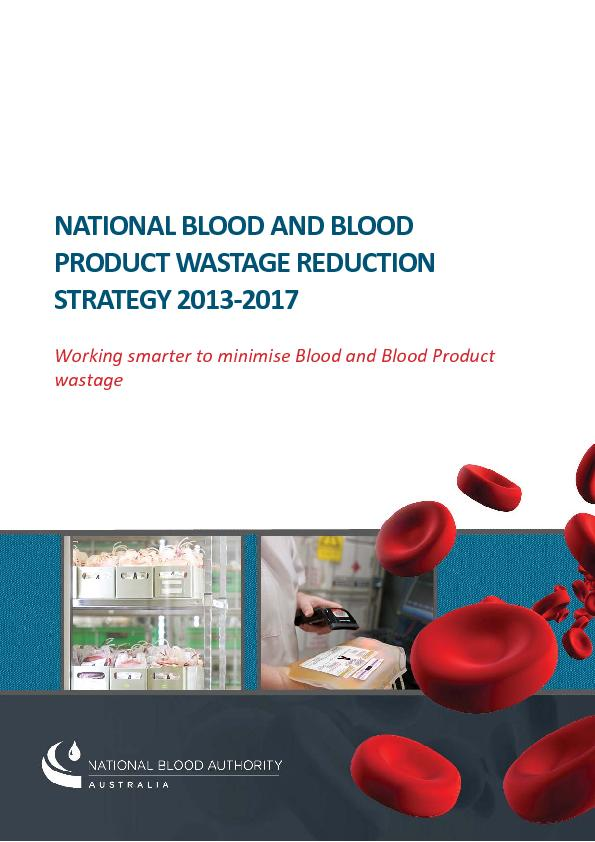 NATIONALBLOODBLOODPRODUCTWASTAGESTRATEGY
