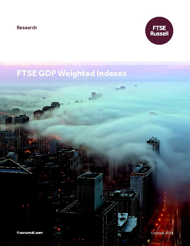 FTSE GDP Weighted Indexes PowerPoint PPT Presentation