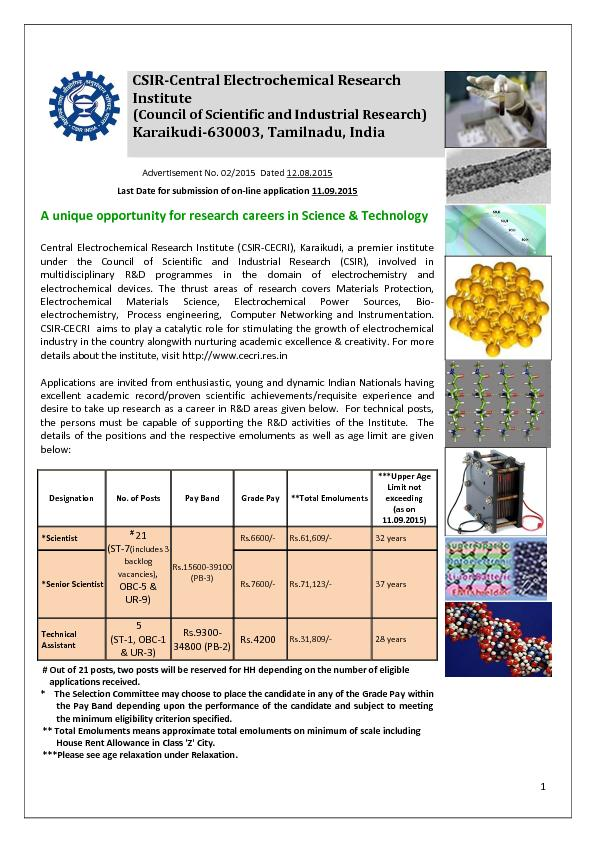 Central Electrochemical Research