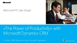 «The Power of Productivity» with PowerPoint PPT Presentation