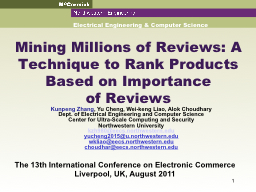 Mining Millions of Reviews: A Technique to Rank Products Ba