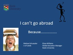 I can't go abroad