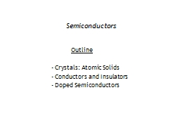 Semiconductors PowerPoint PPT Presentation