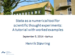 Stata as a numerical tool for