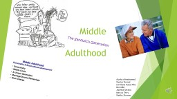 Middle PowerPoint PPT Presentation