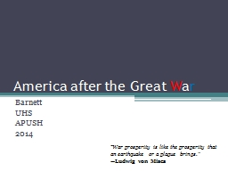 America after the Great