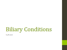 Biliary Conditions