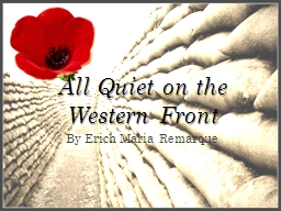All Quiet on the Western Front PowerPoint PPT Presentation