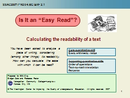 """1 Is It an """"Easy Read""""? PowerPoint PPT Presentation"""