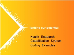 Health Research Classification System