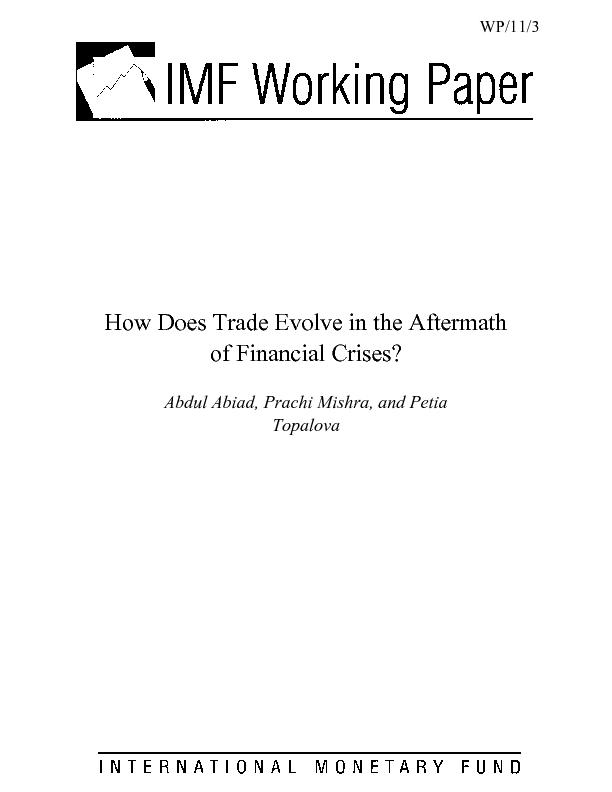 How Does Trade Evolve in the Aftermath of Financial Crises?   Abdul Ab