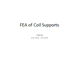 FEA of Coil Supports