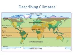 Describing Climates