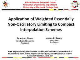 Application of Weighted Essentially Non-Oscillatory Limitin PowerPoint PPT Presentation