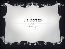 6.3 Notes