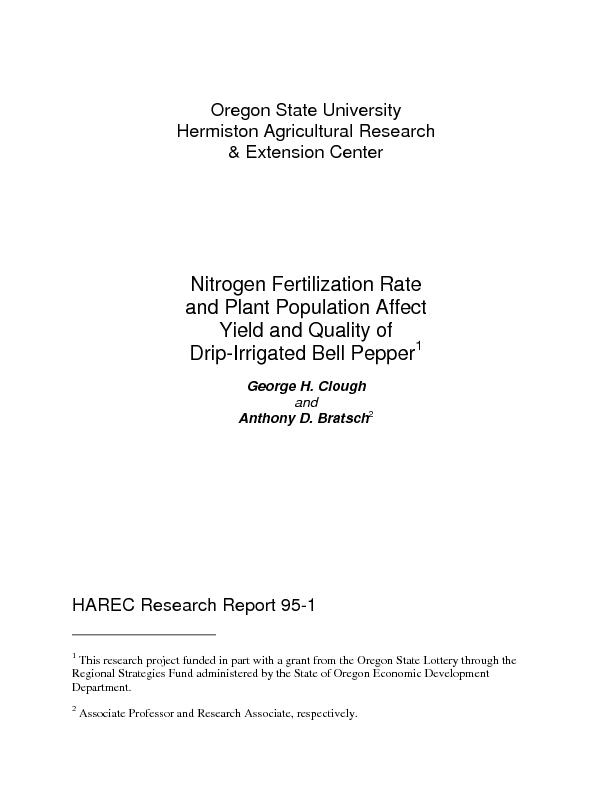 Oregon State University Hermiston Agricultural Research & Extension Ce