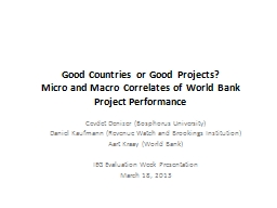Good Countries or Good Projects? PowerPoint PPT Presentation