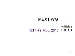 1 IETF-79, Nov. 2010