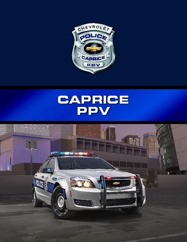 2015 CAPRICE POLICE PACKAGE