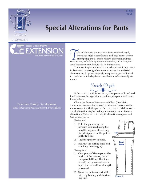 Special Alterations for Pants