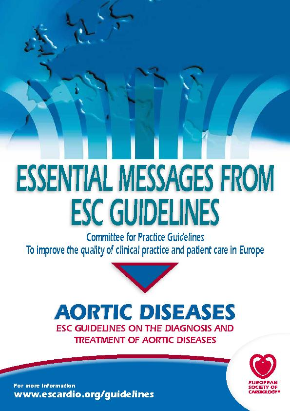 ESC GUIDELINES ON THE DIAGNOSIS AND TREATMENT OF AORTIC DISEASES ...