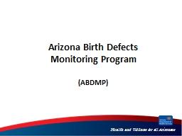 Arizona Birth Defects