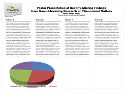 Poster Presentation of Destiny-Altering Findings