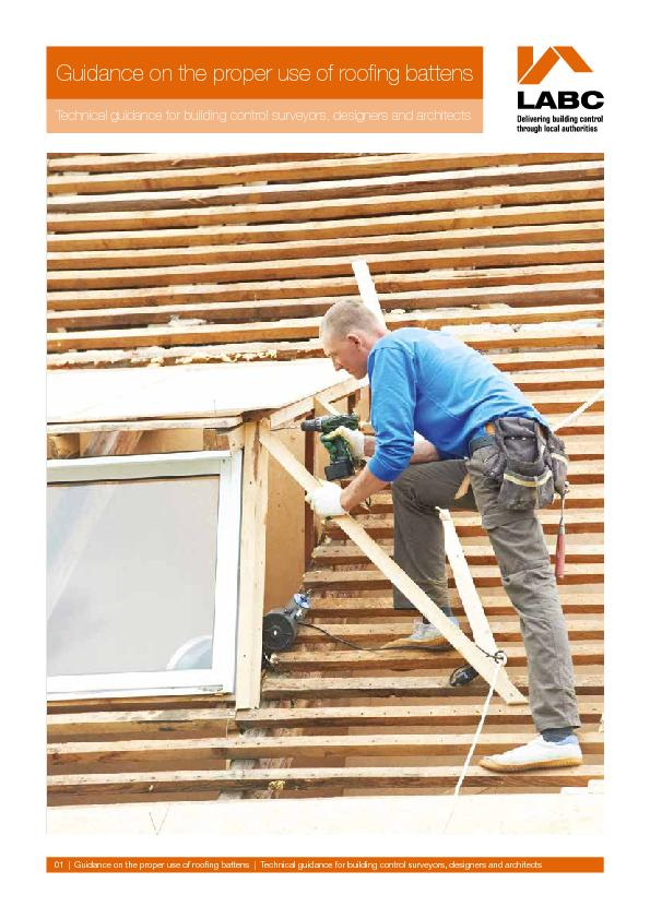 Guidance on the proper use of roofing battensTechnical guidance for bu