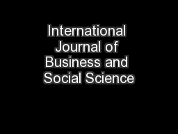 international journal of business and social The journal of design, business & society is a cross-disciplinary  art source  proquest technology journals proquest scitech collection abi/inform global .