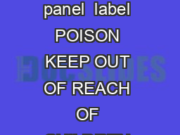 Bisect Duo  EC Termiticide  Insecticide label and leaflet    L  L L  L L Version  page  of  Main panel  label POISON KEEP OUT OF REACH OF CHILDREN READ SAFETY DIRECTIONS BEFORE OPENING OR USING BISEC