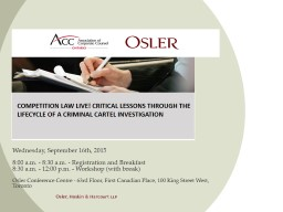 Competition Law Live! Critical Lessons through the Lifecycl